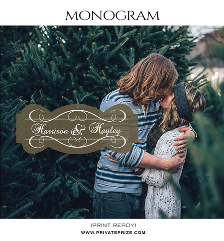 Harrison and Hayley Love Monogram - Photography Photoshop Template