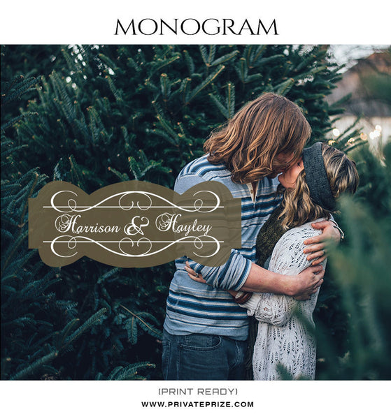 Harrison and Hayley Love Monogram - Photography Photoshop Templates