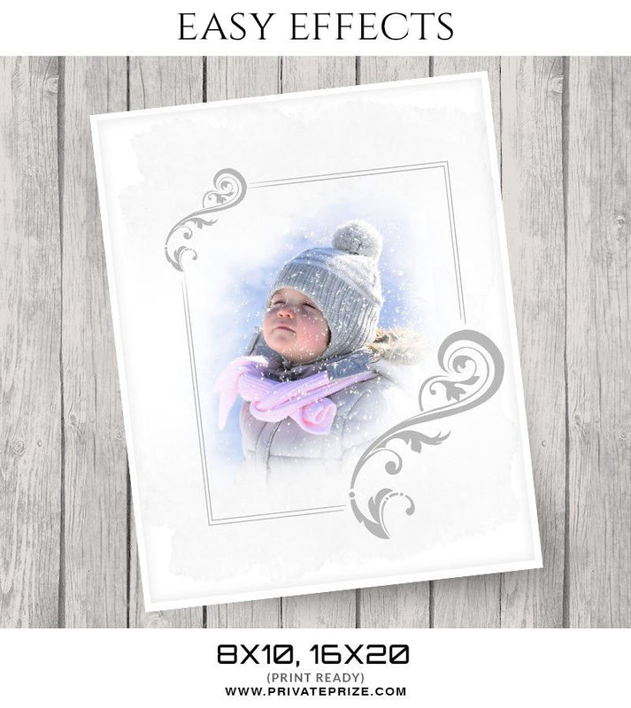 Easy Effects- Winters - Photography Photoshop Template