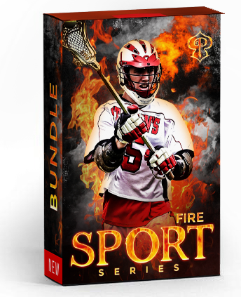 Fire Sports Bundle - Photography Photoshop Template