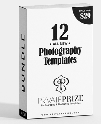 12 - All New Designs Bundle - Photography Photoshop Template