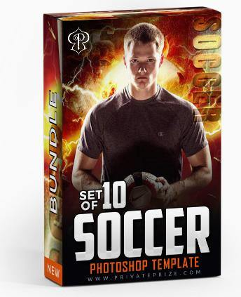 March - Soccer Bundle Photography Photoshop Template