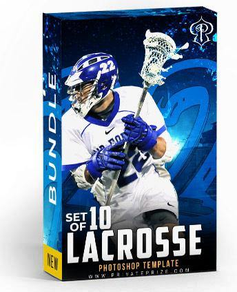 Set of 10 October - Lacrosse Bundle Photography Photoshop Template