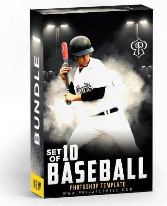 Best Selling Baseball Bundle Photography Photoshop Template