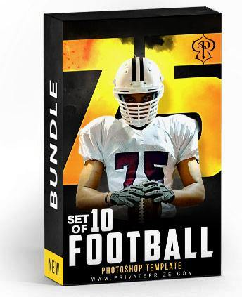Best Selling Football Bundle Photography Photoshop Template