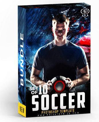 Best Selling Soccer Bundle Photography Photoshop Template