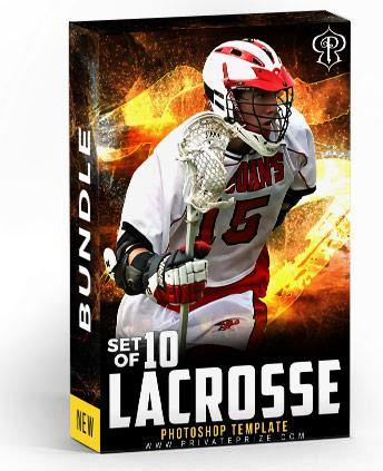 Best Selling Lacrosse Bundle Photography Photoshop Template