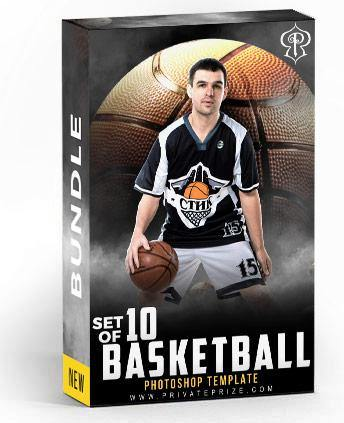 Best Selling Basketball Bundle Photography Photoshop Template