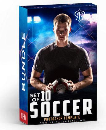 Soccer Bundle Photography Photoshop Template