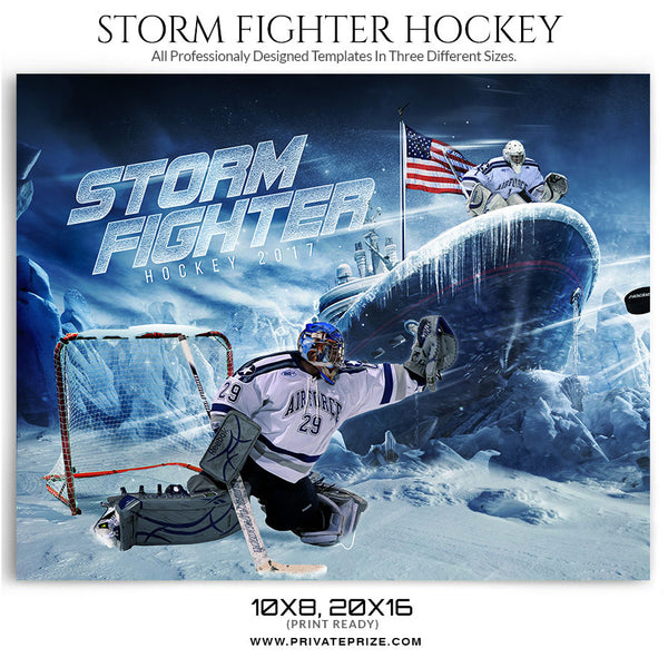 Storm Fighter Themed Sports Template - sports photography photoshop templates