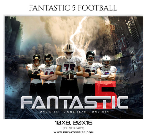 Fantastic 5 Themed Sports Template