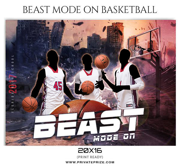 Beast Mode On Themed Sports Template