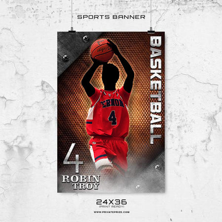 Robin Troy - Basketball-Enliven Effects Sports Banner Photoshop Template - Photography Photoshop Template