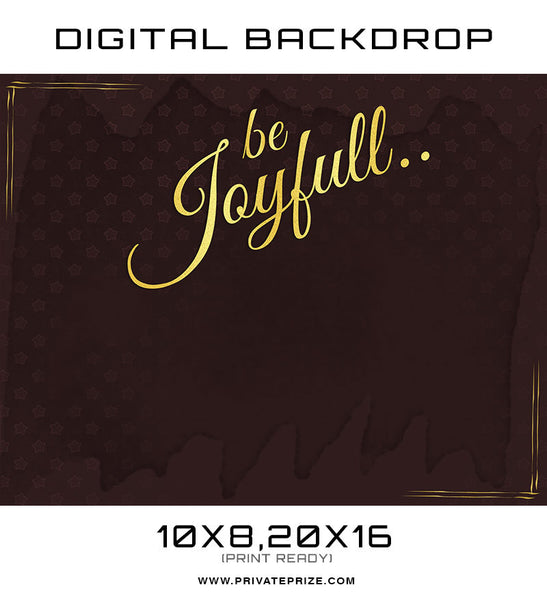 Be Joyfull Kids Digital Background Template - Photography Photoshop Templates