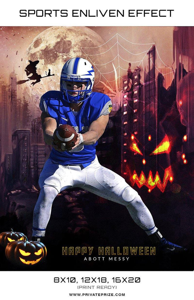 Abott Sports Halloween Template -  Enliven Effects - Photography Photoshop Templates