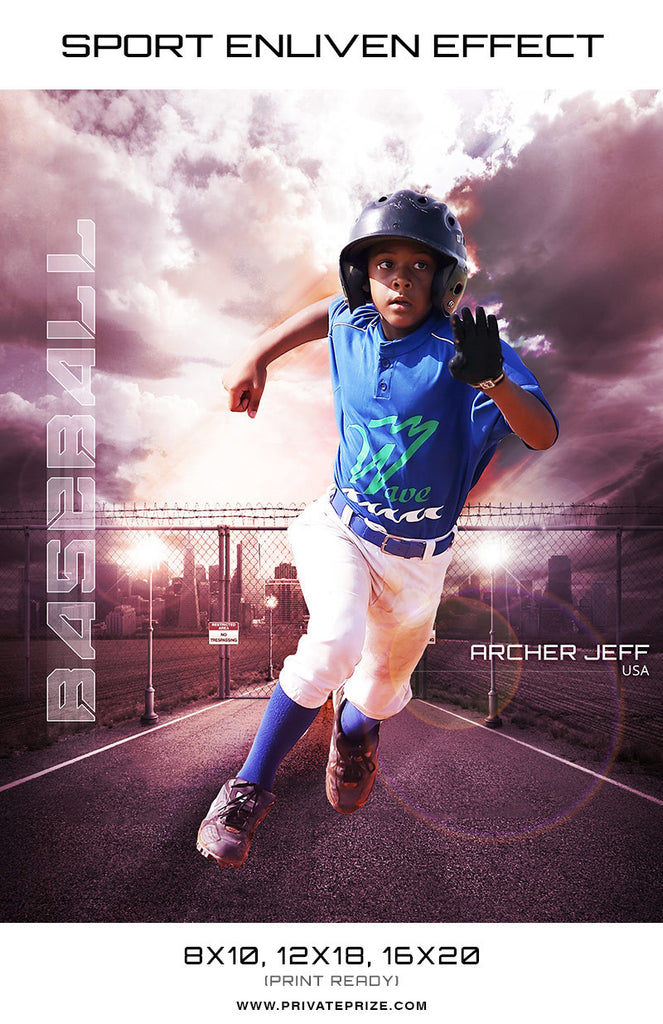 Archer Jeff Baseball High School Sports - Enliven Effects - Photography Photoshop Templates