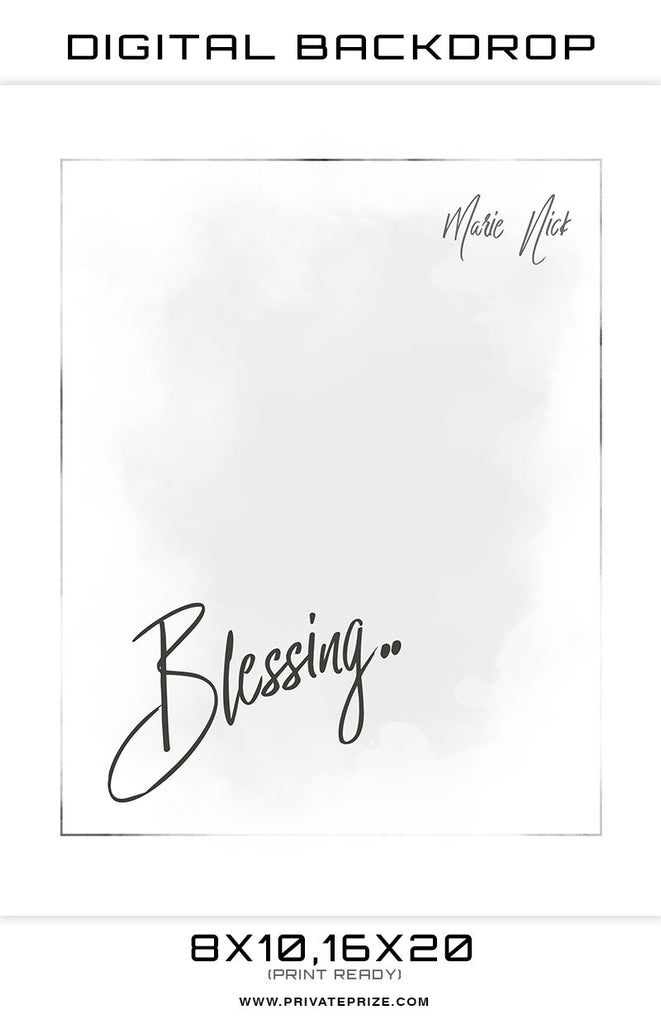 Blessings Digital Background Template
