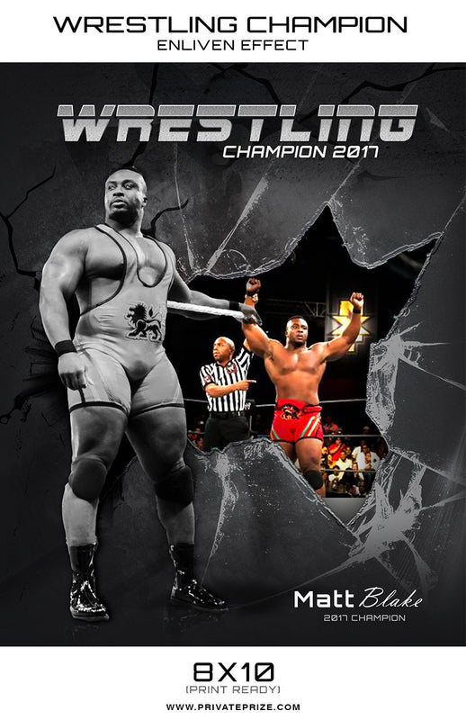 Matt Wrestling Champion - Enliven Effects - Photography Photoshop Template