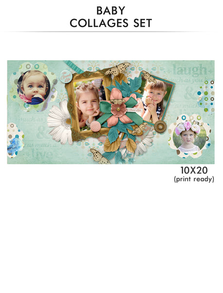 Baby Collage Set - All Mine - Photography Photoshop Templates
