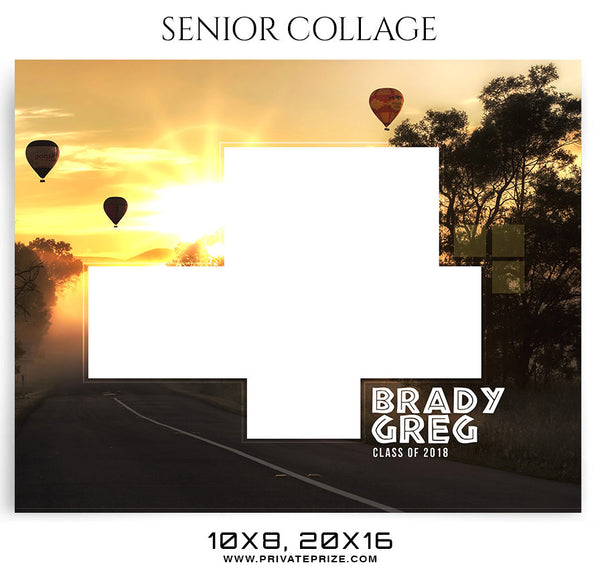 Brady grag senior collage - SENIOR COLLAGE PHOTOGRAPHY TEMPLATE - Photography Photoshop Template