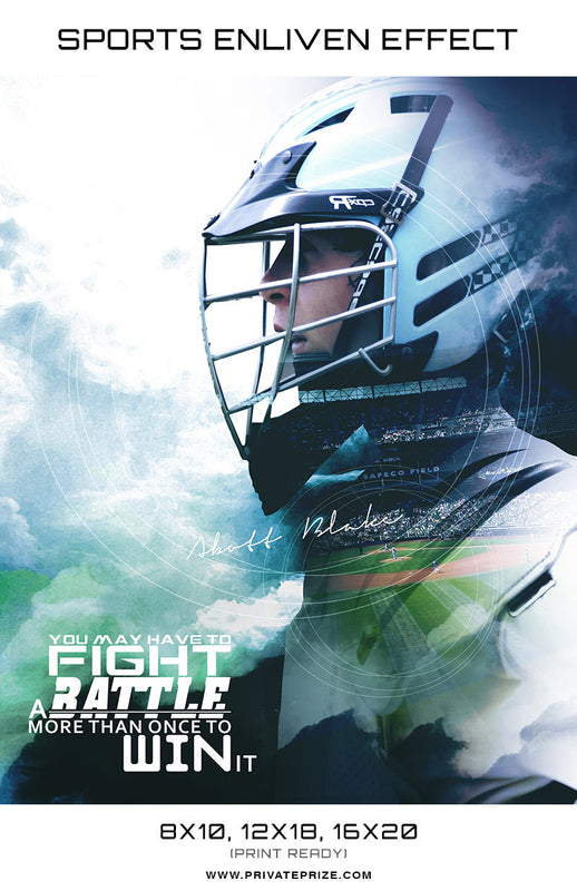 Double Exposer Football High School Sports - Enliven Effects - Photography Photoshop Template