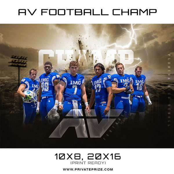 AV Football Champ 2017 -  Enliven Effects-Sports Template - Photography Photoshop Templates