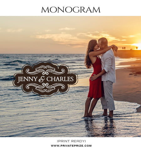 Jenny and Charles Monogram - Photography Photoshop Template
