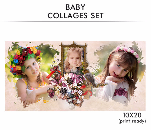 Baby Collage Set - My baby - Photography Photoshop Templates