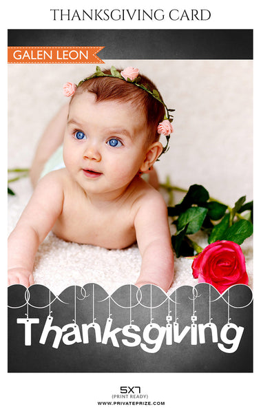 Galen Leon- Thanksgiving card Digital Backdrop - Photography Photoshop Template