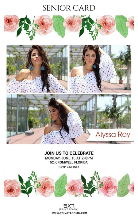 Alyssa Roy - Photo Card Templates - PrivatePrize - Photography Templates