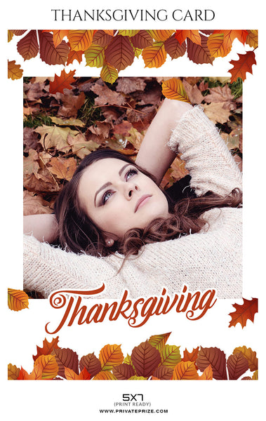 Jacelyn Troy  - Thanksgiving card Digital Backdrop - Photography Photoshop Template