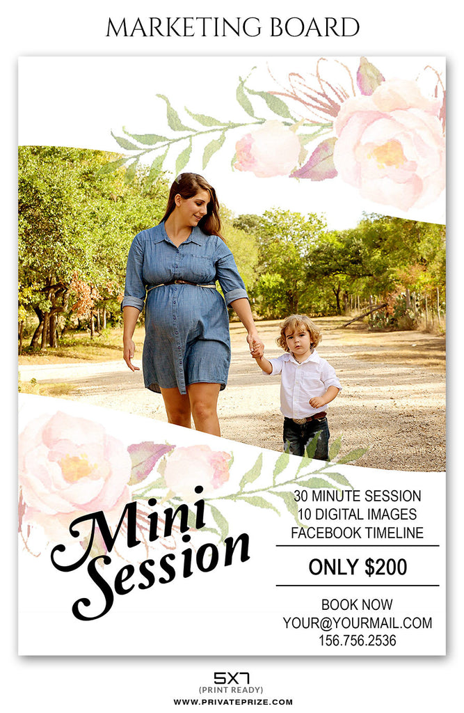 mothers day mini session flyer template 2 for photographers