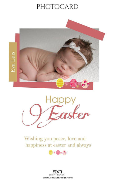 Eva Luis - Easter Photo Card - Photography Photoshop Template