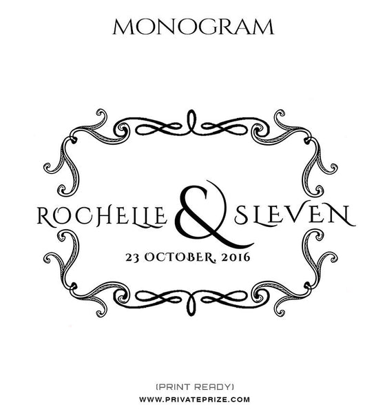 Couple in Love Monogram - Photography Photoshop Templates