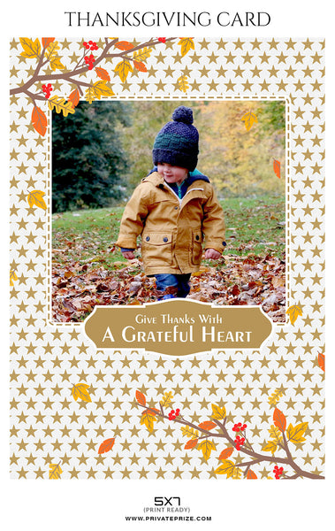 Jose - Thanksgiving card Digital Backdrop - Photography Photoshop Template