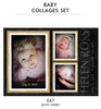 Baby Collage Set - July Baby - Photography Photoshop Template