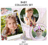 Baby Collage Set - Baby Love - Photography Photoshop Template