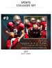 Bob- Sports Collage Photoshop Template - Photography Photoshop Template