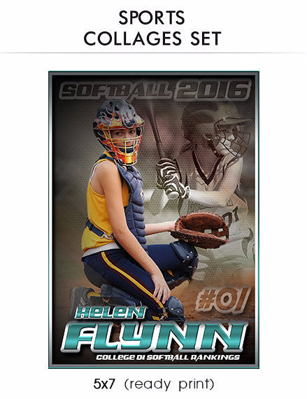 Flynn - Sports Collage Photoshop Template - Photography Photoshop Templates