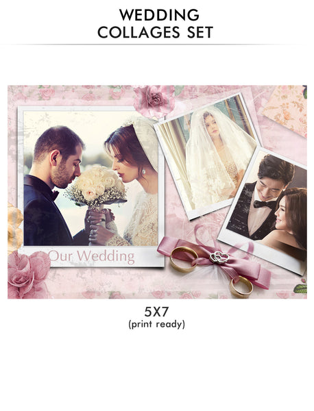 Wedding Collage Set - Along With - Photography Photoshop Templates