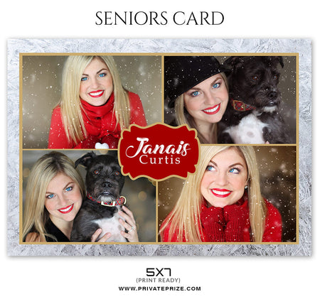 Janais Curtis - Christmas Card - Photography Photoshop Template