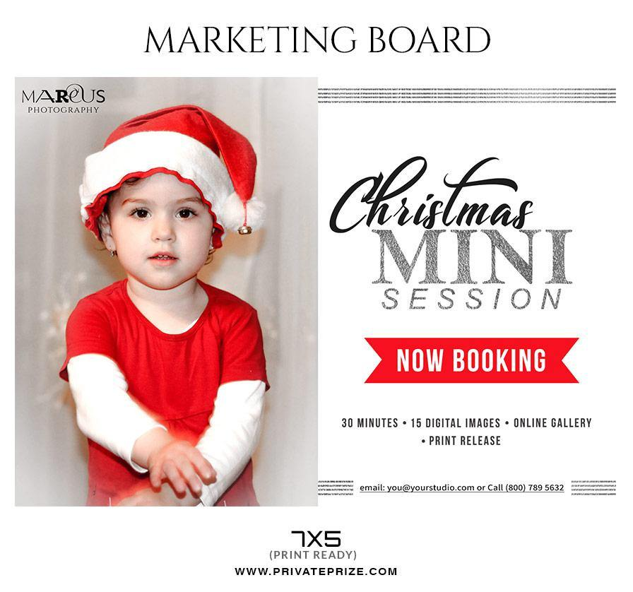 christmas marketing banner mini session flyer template for photograp