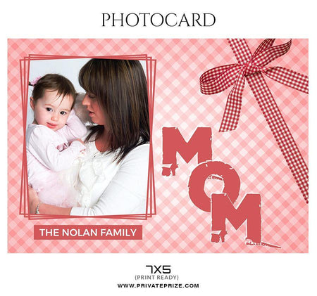 The Nolan Family - Photo card - Photography Photoshop Template