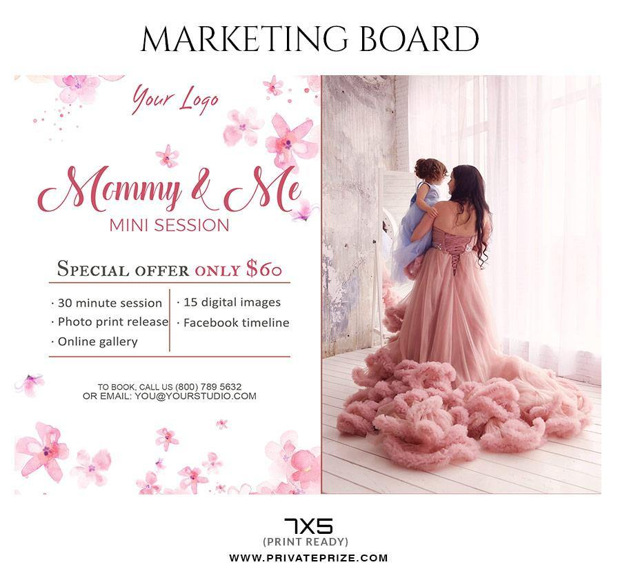 mommy me mother s day marketing board flyer templates