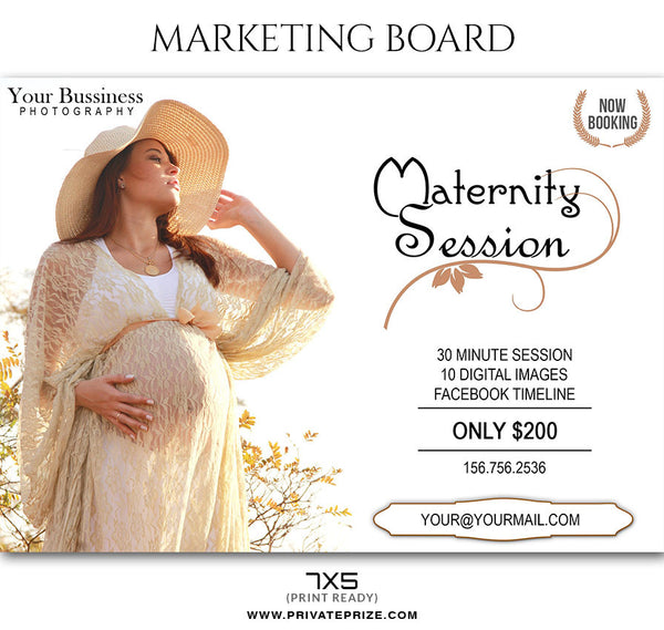 MATERNITY MARKETING PHOTOGRAPHY BOARD - Photography Photoshop Template