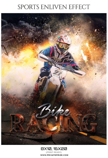 Bike Racing - Sports Enliven Effects Photography Template - Photography Photoshop Template