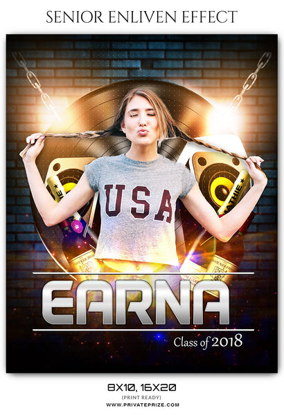 Earna Senior Enliven Effect Photography Photoshop Template - Photography Photoshop Template