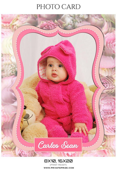 Carlos Sean - New Born Photo Card - Photography Photoshop Template