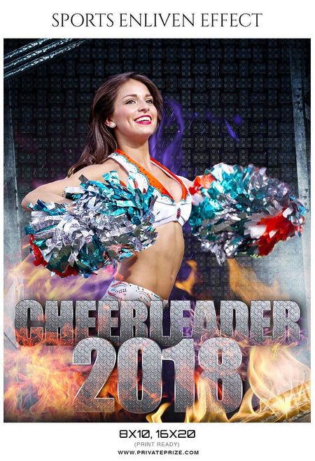 Cheerleader 2018 - Cheerleader Sports Photography Template - Photography Photoshop Template