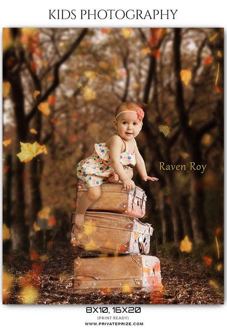 Raven Roy - Kids Photography Photoshop Templates - Photography Photoshop Template